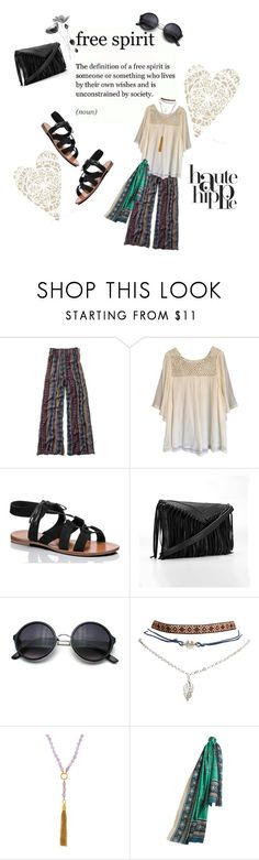"""Free spirit"" by emi-the-queen ❤ liked on Polyvore featuring Abercrombie & Fitch, Haute Hippie, Kate Spade, Wet Seal, Henri Bendel, Burberry, boho, hippie, Bohemian and freespirit"