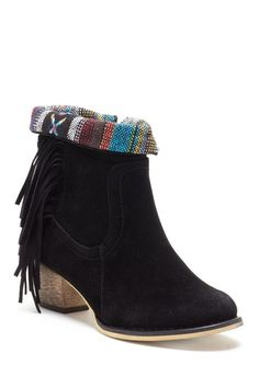 Bucco Fedora Fringed Ankle Booties