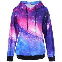 Drop Shoulder Galaxy Hoodie