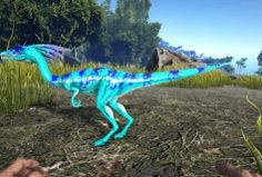 Rainbow spino ark pinterest spinosaurus blue chameleon compy malvernweather