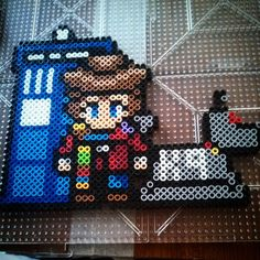 My pattern made it to pintrest! I feel so cool! >3< Doctor Who perler project by ashs_crafty_corner