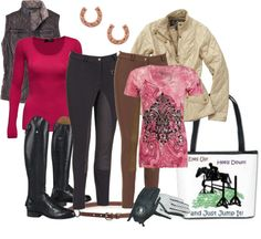 """""""Day at the Barn #10 - 2 day clinic"""" by sunnykansas on Polyvore"""