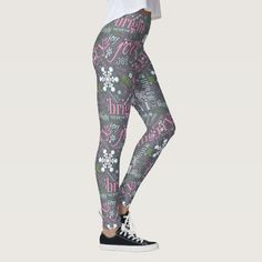 Christmas Text and Snowflake Pattern Slate ID257 Leggings - tap/click to get yours right now! #Leggings #typography #text #designs #christmas #snowflakes Christmas Text, Christmas Snowflakes, Leggings Fashion, Women's Leggings, Snowflake Pattern, Text Design, Look Cool, Dressmaking, Slate
