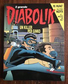 IL GRANDE DIABOLIK / 2008-2 - Un Killer per Ginko - Astorina | eBay Comic Frame, Old Comics, Diabolik, Cyberpunk, Frames, Comic Books, Ebay, Frame, Cartoons