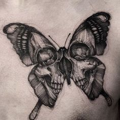 Death's butterfly #gorgeous #kickass tattoo