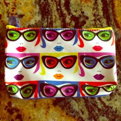 Makeup Bag Super cute face makeup bag. Inside lining is blue. Zip top closer. Bag size is 4 1/2 inches by 7 inches. Brand new never used. Makeup