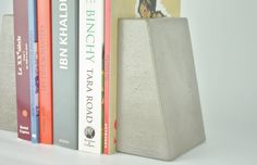 Modern Concrete Bookends by fmcdesign on Etsy