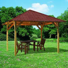 Tonnelle bois 11.56 m2 SEVILLA (90x90mm) L265xP265xH290cm au meilleur prix - LeKingStore