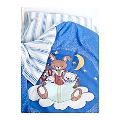 СОВДАГС Комплект постельного белья, 3 предм, синий - 110x125/35x55 см - IKEA