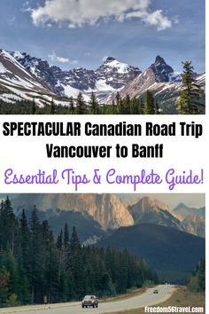Vancouver to Banff Drive (Easy Canadian Rockies Itineraries) – - Want to see the spectacular Canadian Rockies but don't know the best routes? Alberta Canada, Banff Alberta, Alberta Travel, Canadian Travel, Canadian Rockies, Bora Bora, Banff National Park, National Parks, Canada Vancouver