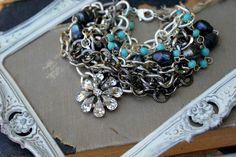 Vintage Rhinestone and Contemporary Layered by simplymeart on Etsy