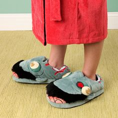 Zombie Slippers. Because being a capitalist means we have meaningless crap that we must have and these are truly must-haves.