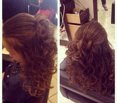 Half up Sweet 16 Hairstyles, Special Occasion Hairstyles, Half Up, Long Hair Styles, Beauty, Long Hairstyle, Long Haircuts, Long Hair Cuts, Beauty Illustration