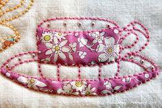 Aplicación de Tela, bordados, Perlas Y Encajes - Encantador vajilla!