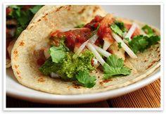 Mmmmmm...Fish Tacos with Cilantro Pesto by @wearsmanyhats