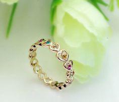 Swarovski 18K RGP Cutout Heart Alloy Ring - Rings - Jewelry Free shipping