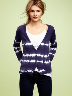 Gap Tie-dye button-front cardigan