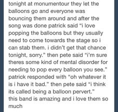Found this earlier from a Fall Out Boy page, thought it was pretty funny. :)