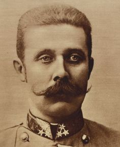 Archduke Franz Ferdinand- was an Archduke of Austria-Este, Austro-Hungarian and Royal Prince of Hungary and of Bohemia and, from 1896 until his death, heir presumptive to the Austro-Hungarian throne.
