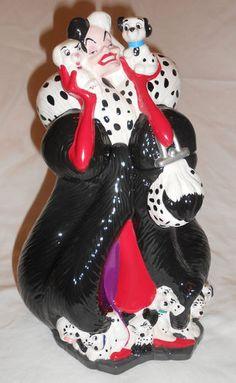 Disney Cruella de vil Cookie Jar Treasure Craft | eBay