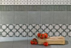 Azulej Grigio Combination by Patricia Urquiola available from Surface Tiles. Winner of Best Trend Award by Elle Decoration,