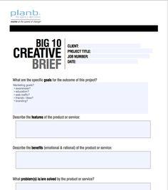 Plan B Creative Brief.