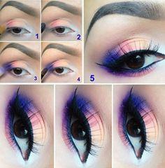 14 smoky eye make-up tutorials Beautiful Eye Makeup, Pretty Makeup, Love Makeup, Makeup Inspo, Beautiful Eyes, Makeup Inspiration, Makeup Ideas, Amazing Makeup, Bright Makeup