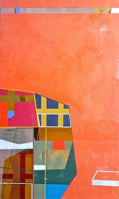 """Jim Harris: Module 1967. Oil on panel 18"""" x 10.5"""" 2013 #colorful #abstract #art"""