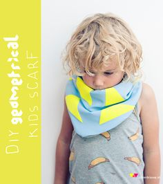 kinder sjaal - geometrical kids scarf (nederlands and English tutorial) by Zilverblauw