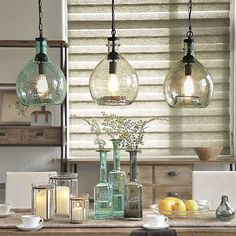 Glass Pendant Light In 2019 Clear Glass Pendant Light . Carafe Glass Pendant Light Small Shades Of Light. Home and Family Kitchen Lighting Design, Kitchen Island Lighting, Kitchen Lighting Fixtures, Kitchen Pendant Lighting, Pendant Light Fixtures, Pendant Lights, Kitchen Islands, Room Lights, Hanging Lights