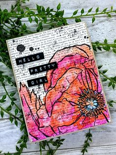 Mixed Media Cards, Unity Stamps, Pen And Watercolor, Watercolor Flowers, White Gel Pen, Wink Of Stella, New Backgrounds, Color Card, Gel Pens