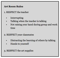 Classroom Management strategy + form letter to be sent home and returned signed by parent Art Classroom Posters, Art Room Posters, Classroom Management Strategies, Class Management, Behavior Management, Management Tips, Classroom Organization, Classroom Ideas, Classroom Rules