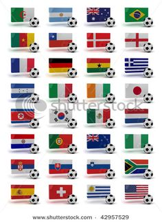 White Graphics /& More Futbol Football Country Germany with Crest Flag Soccer Ball