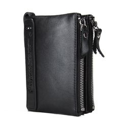 HOT!!! Genuine Crazy Horse Cowhide Leather Men Wallet Short Coin Purse Small