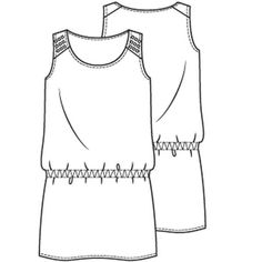 Hemdjurk in stijl van Kate Moss (PDF patroon) - Jurk - Vrouw - Shop Kate Moss, Croquis Fashion, Flat Sketches, Diy Fashion, Fashion Design, Basic Tops, Sewing For Beginners, T Shirts For Women, Clothes For Women
