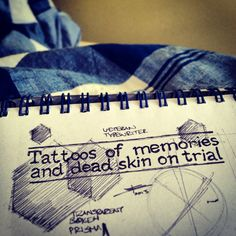 'Tattoos of Memories and Dead Skin on Trial' (Green Day - Good Riddance/Time of Your Life) #sketchbook #doodling #graphicdesign  by E.R.P. Elschott/Avenue '86 - creative design workshop