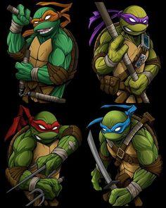 Teenage Mutant Ninja Turtles by David Tevenal Ninja Turtle Drawing, Ninja Turtle Tattoos, Ninja Turtles Movie, Teenage Mutant Ninja Turtles, Teenage Turtles, Ninja Wallpaper, Turtle Images, Tmnt Comics, Lesage
