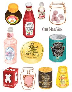 English packaging - well known brands Ohn Mar Win Rainbow Fruit, Eat The Rainbow, Heinz Baked Beans, Vintage Jars, Vintage Food, Peppermint Candy Cane, Food Packaging, Vintage Packaging, Packaging Design