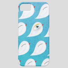 iPhone 5 case Birds blue Sky