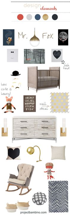 elegant #Fox themed #nursery projectbambino.com