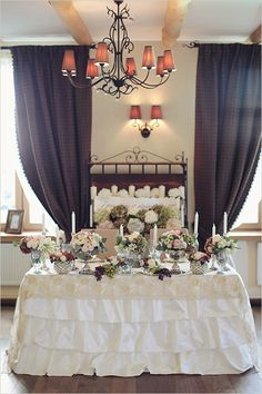 romantic sweetheart wedding table ideas