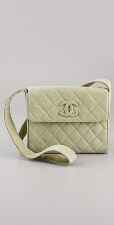 WGACA Vintage Vintage Chanel Suede Bag - StyleSays