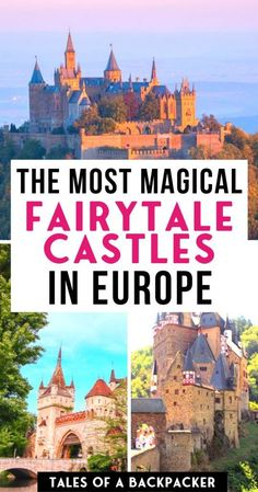 The ultimate list of the most beautiful fairytale castles in Europe which you can actually visit, or imagine yourself living there in your own fairytale! Backpacking Europe, Europe Travel Guide, Europe Destinations, Travel Deals, Vacation Travel, Travel Packing, Traveling Europe, Europe Packing, Suitcase Packing