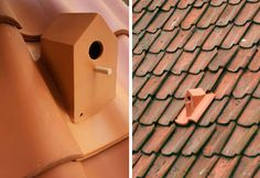 terra cotta bird house tile