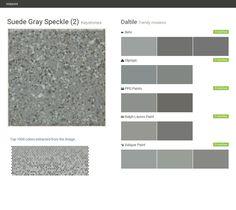 Suede Gray  Speckle (2). Keystones. Trendy mosaics. Daltile. Behr. Olympic. PPG Paints. Ralph Lauren Paint. Valspar Paint.  Click the gray Visit button to see the matching paint names.
