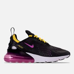 c9a5d344716e Right view of Men s Nike Air Max 270 Casual Shoes in Black Hyper Magenta