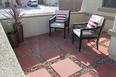 4 Men 1 Lady: Courtyard before and after.