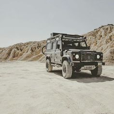 "Land Rover Defender 110 Td5 Sw County ""Overlanding in Bardenas Desert"" Spain."