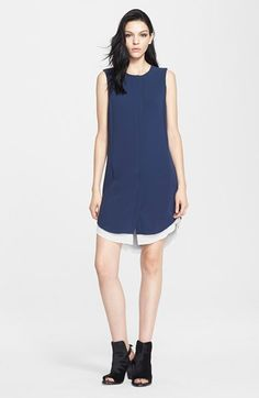 rag & bone Sleeveless Crepe Shirtdress available at #Nordstrom