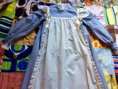 Girls Prairie Apron Dress 6/8 by lishyloo on Etsy